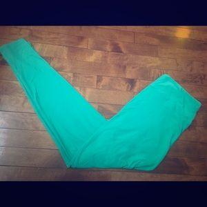 LuLaRoe Size TC Green / Aqua Leggings